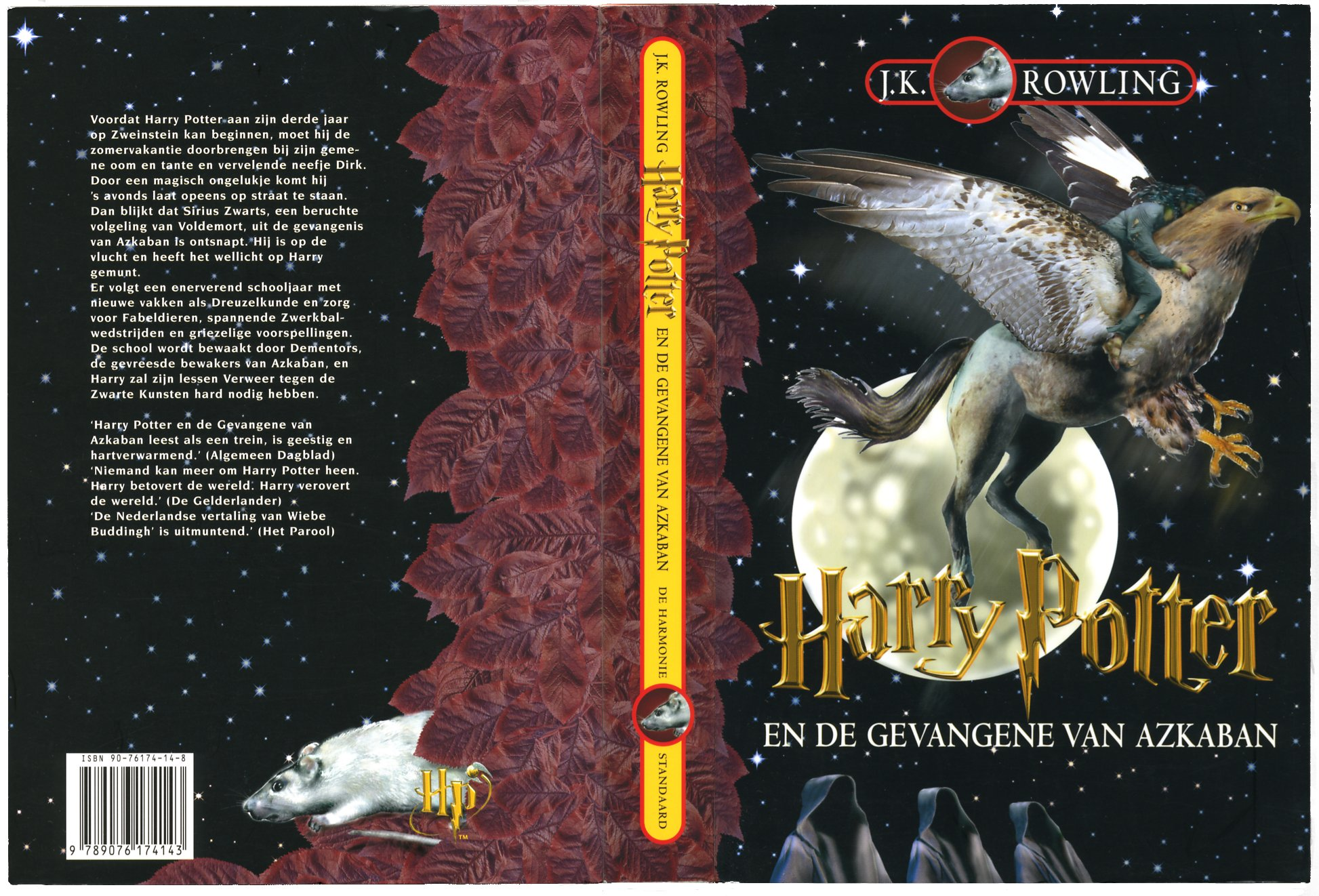 Harry potter book covers front and back